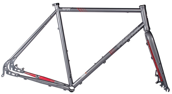 Fyxation Quiver Disc Frameset, 53cm - Slate Grey - Modern Bike