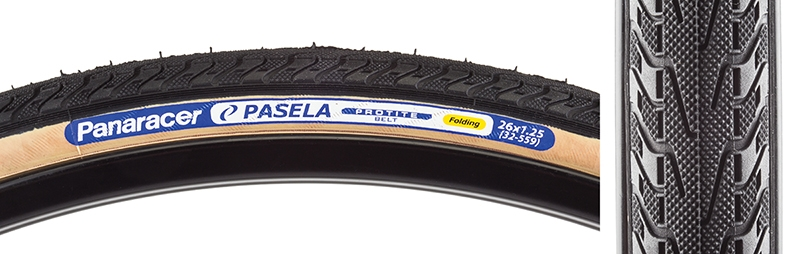Panaracer Pasela Protite Tire 26x1.25 Black Wire Clincher 559 ISO