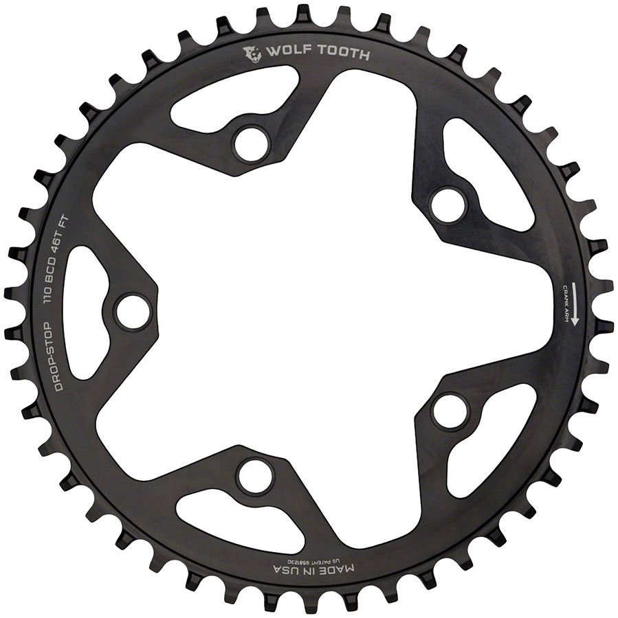 110BCD 5 Hole Chainring 36T Black