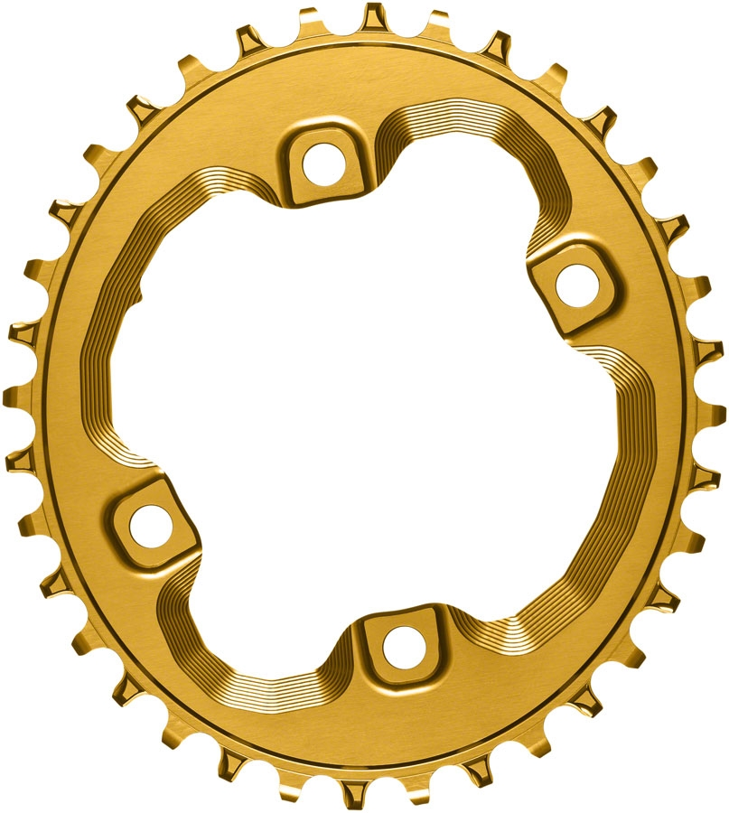 34t ABSOLUTE BLACK Shimano Oval Traction Chainring Black//96 BCD M8000 XT