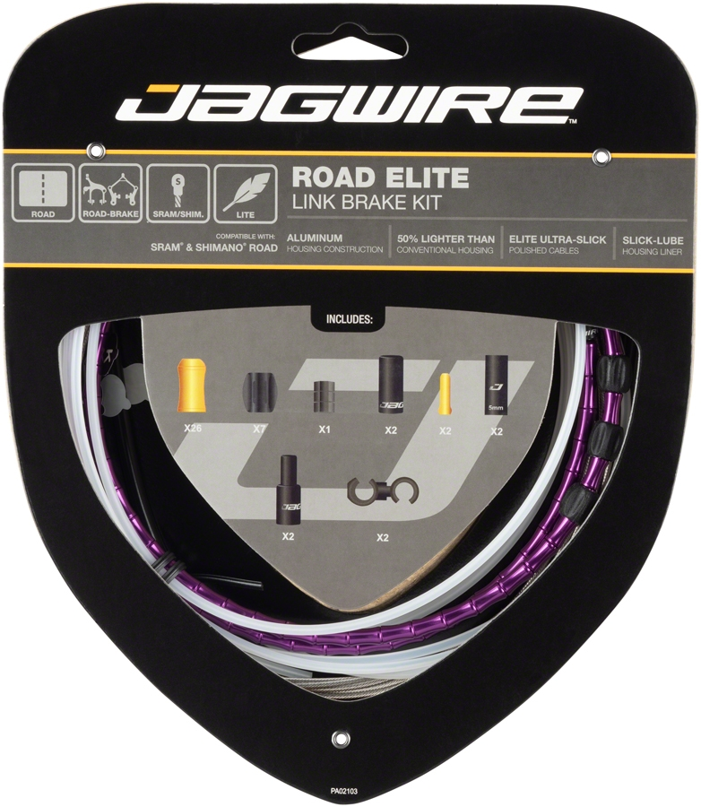 AMS Silver New Upgrade Jagwire MCK701 Mountain Elite Link Brake Cable Kit