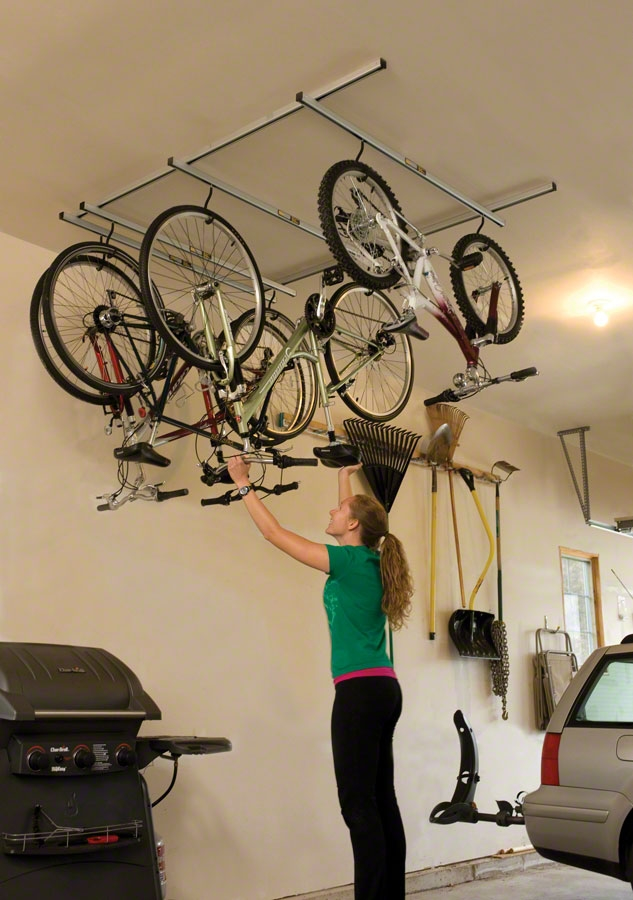 Saris Cycle-Glide Ceiling Mount 4-Bike Storage : ceiling bike storage  - Aquiesqueretaro.Com