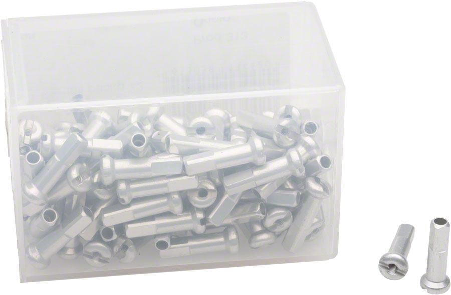 NEW DT Swiss 1.8 x 16mm Silver Alloy Nipples Box of 100