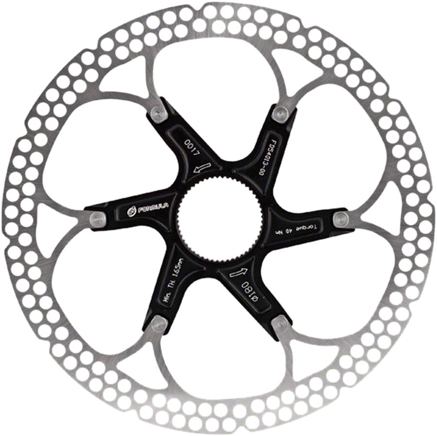 Formula Al Cr 2 Piece Disc Rotor Black 180mm Centerlock Modern Bike