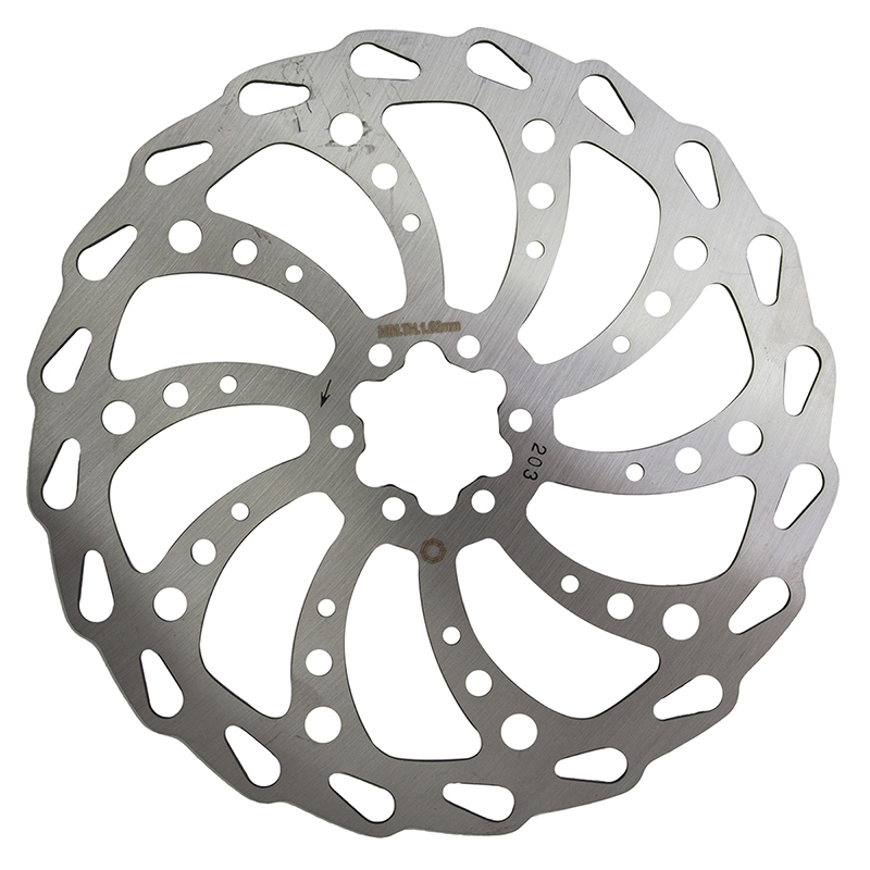 Clarks Wavey 6 Bolt Disc Rotor 203mm Silver Modern Bike