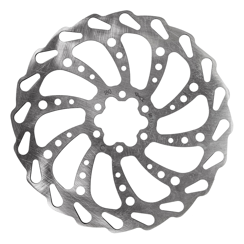 Clarks Wavey 6 Bolt Disc Rotor 180mm Silver Modern Bike