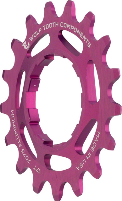 "Wolf Tooth Components Single Speed Bike 18t Cog 3//32/"" Purple"