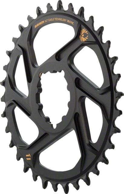 SRAM X-Sync 2 Eagle Chainring 38T Direct Mount 3mm Offset Boost Black Gold Logo