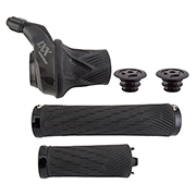 SRAM XX1 Eagle 12-Speed GripShift Shifter with Discrete Clamp Black with Gold
