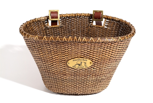 Classic Shape Natural Nantucket Lightship Front Basket