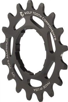 "For 3//32/"" Chains Wolf Tooth Components Single Speed Aluminum Cog 17T Purple"