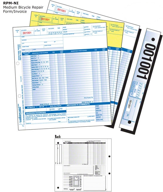 Walking Bird RpmNi Medium Repair Form With Services Listed Pack