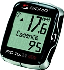 Sigma BC 16.12 STS CAD wireless Cycling Computer: Black