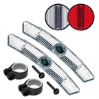 Cateye Reflector Kit: Front and Rear Reflectors with Mounts