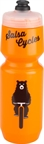 Salsa Wide Mouth Purist Water Bottle: 26oz Bike Ridin' Bear, Orange