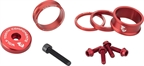 Wolf Tooth Components BlingKit: Headset Spacer Kit 3, 5,10, 15mm, Red