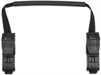 Ortlieb Replacement Pannier Hooks: For QL2.1/2 Systems, Fits 16mm Rails and comes with 12mm, 10mm, 8mm Reducers, Black