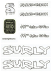 Surly Cross Check Frame Decal Set with Headbadge: White