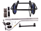 Seattle Sports Company Go! Cart, Center Cart and Bike Trailer Kit: Black Frame with Blue Mag Wheels