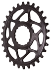 Absolute Black Spiderless Cinch DM Oval Boost Chainring - 30T - Black