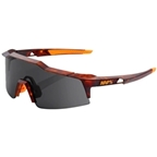 100% SpeedCraft Sunglasses: Matte Dark Havana Frame with Smoke Lens, Spare Clear Lens Included