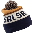 Salsa Pom Beanie: Blue/Brown One Size